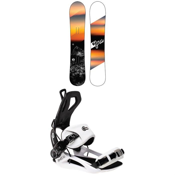 GNU - Ravish C2 Snowboard - Women's 2022 + GNU B-Real Snowboard Bindings - Women's 2022