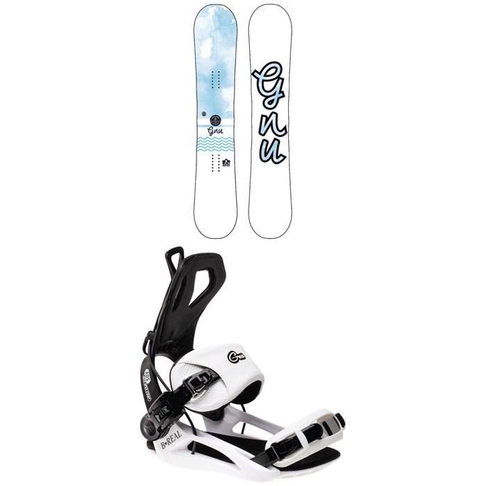 GNU - B-Nice BTX Snowboard - Women's 2022 + GNU B-Real Snowboard Bindings - Women's 2022