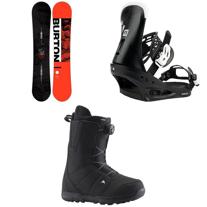 Burton - Ripcord Snowboard 2022 + Burton Freestyle Snowboard Bindings 2022 + Burton Moto Boa Snowboard Boots 2021