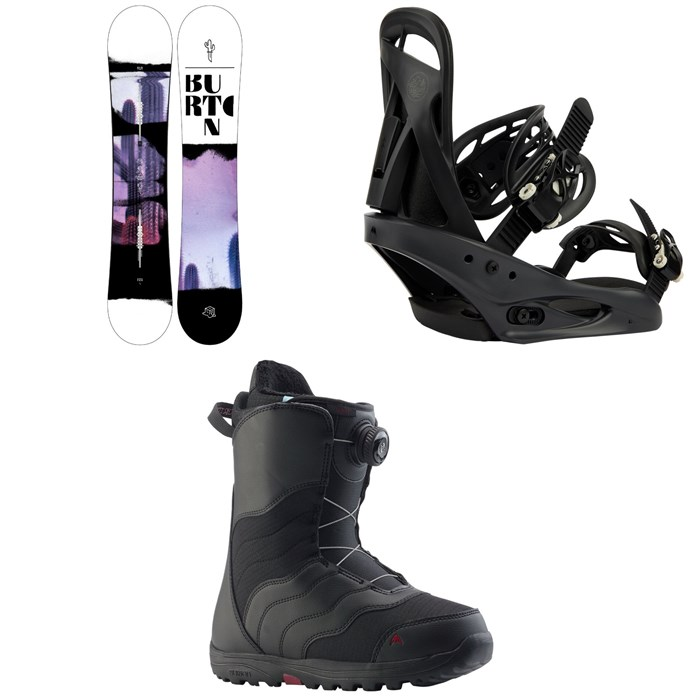 Burton - Stylus Snowboard  + Citizen Snowboard Bindings + Mint Boa Snowboard Boots - Women's 2022