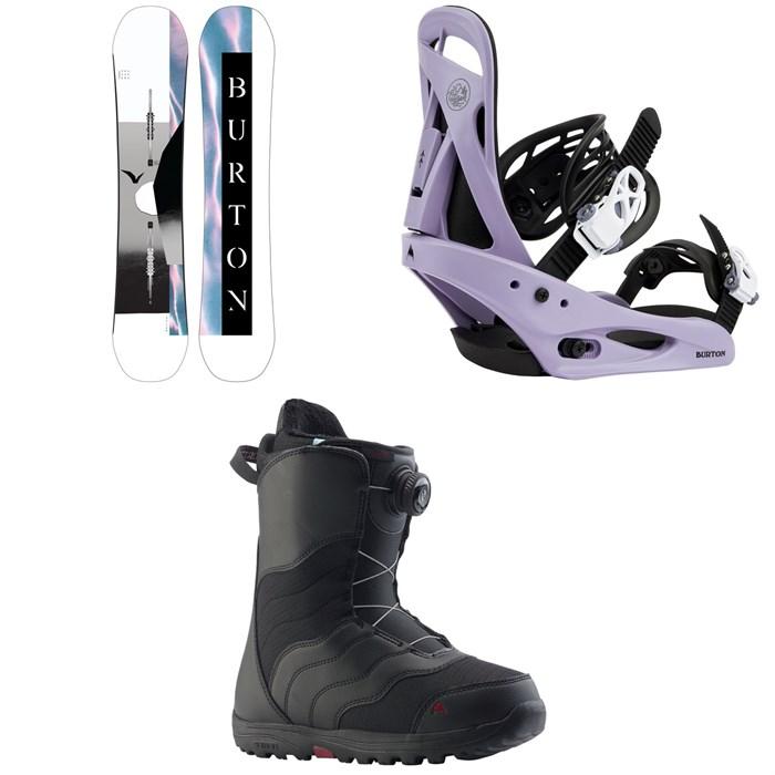 Burton - Yeasayer Flying V Snowboard + Citizen Snowboard Bindings + Mint Boa Snowboard Boots - Women's 2022
