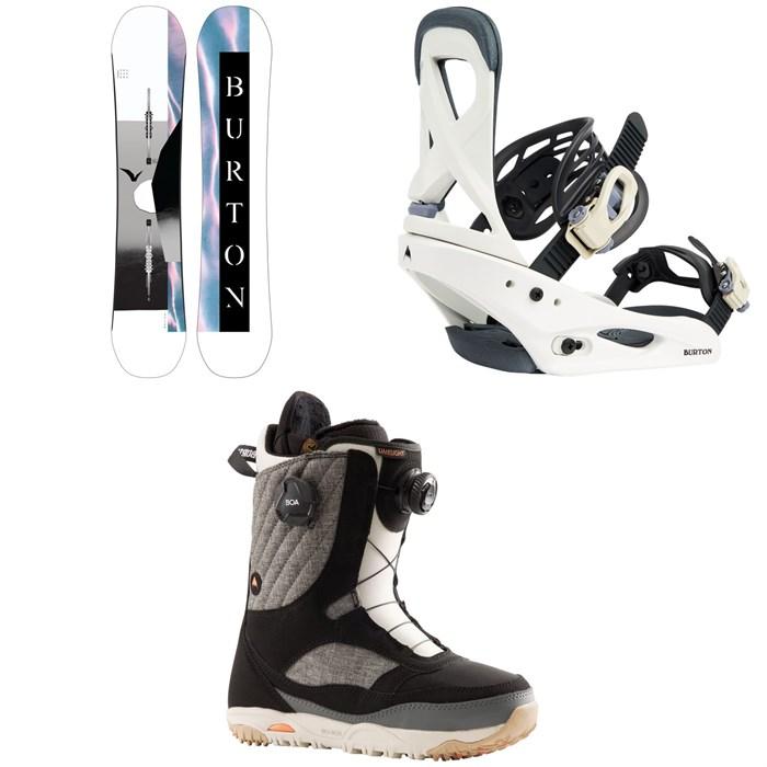Burton - Yeasayer Flying V Snowboard + Scribe Snowboard Bindings + Limelight Boa Snowboard Boots - Women's 2022