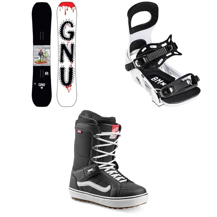 GNU - Money C2E Snowboard + Bent Metal Bolt Snowboard Bindings + Vans Hi Standard OG Snowboard Boots 2022