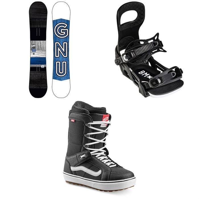 GNU - GWO BTX Snowboard + Bent Metal Bolt Snowboard Bindings + Vans Hi Standard OG Snowboard Boots 2022