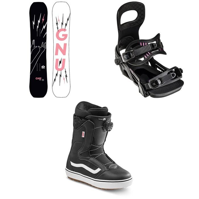 GNU - Gloss C2E Snowboard ?+ Bent Metal Metta Snowboard Bindings + Vans Encore OG Snowboard Boots - Women's 2022