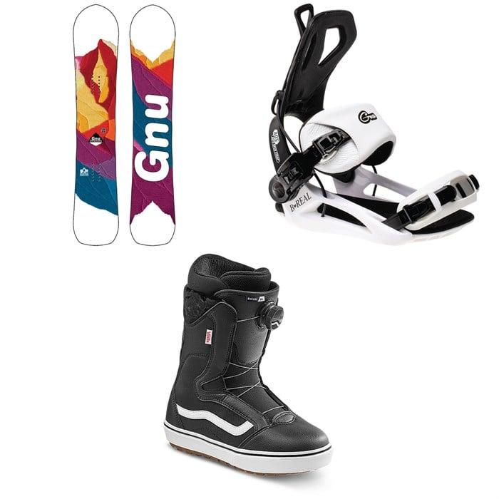 GNU - Chromatic BTX Snowboard + GNU B-Real Snowboard Bindings + Vans Encore OG Snowboard Boots - Women's 2022
