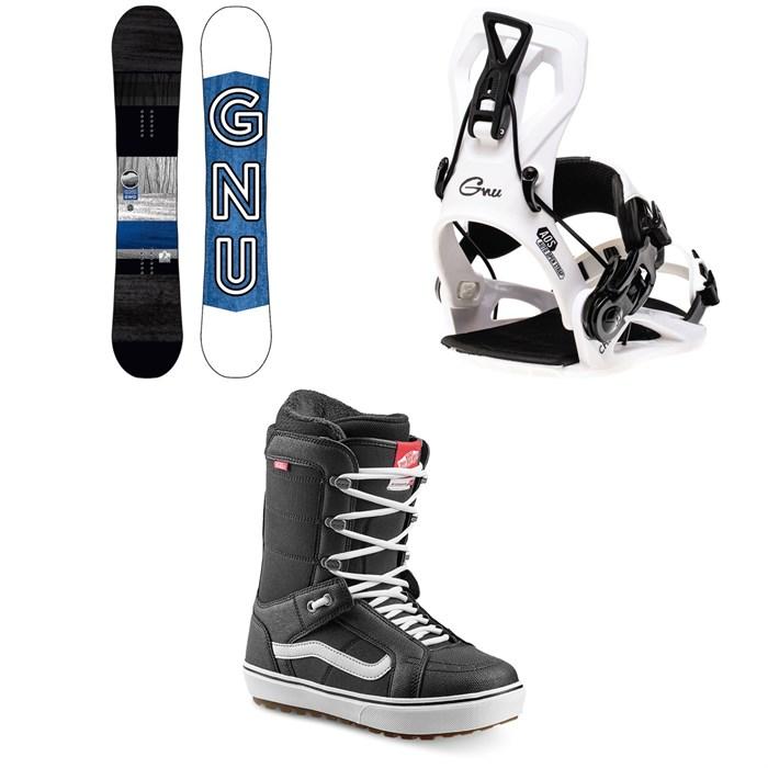 GNU - GWO BTX Snowboard + GNU Cheeter Snowboard Bindings + Vans Hi Standard OG Snowboard Boots 2022