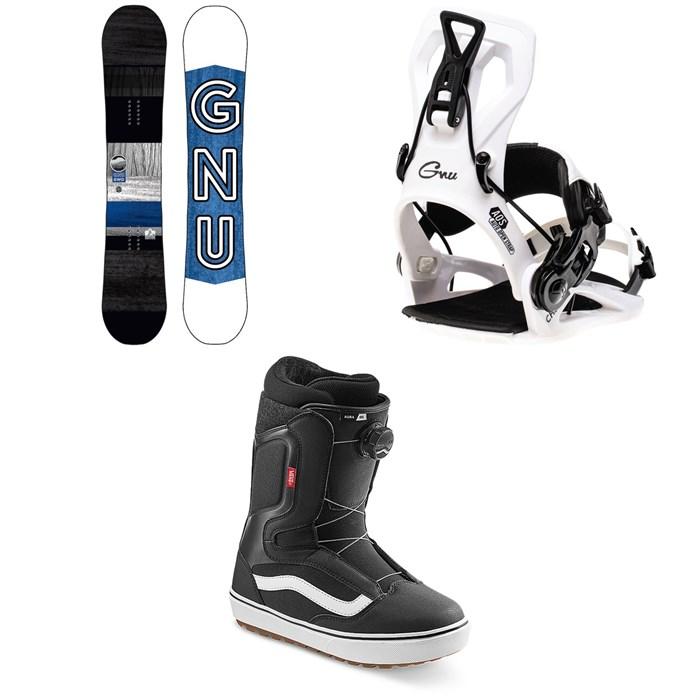 GNU - GWO BTX Snowboard + GNU Cheeter Snowboard Bindings + Vans Aura OG Snowboard Boots 2022