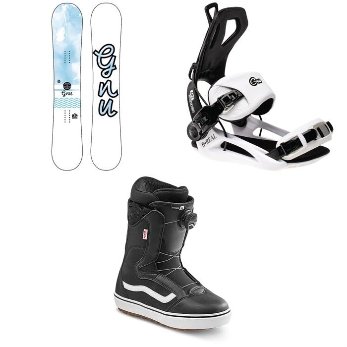 GNU - B-Nice BTX Snowboard + GNU B-Real Snowboard Bindings + Vans Encore OG Snowboard Boots - Women's 2022