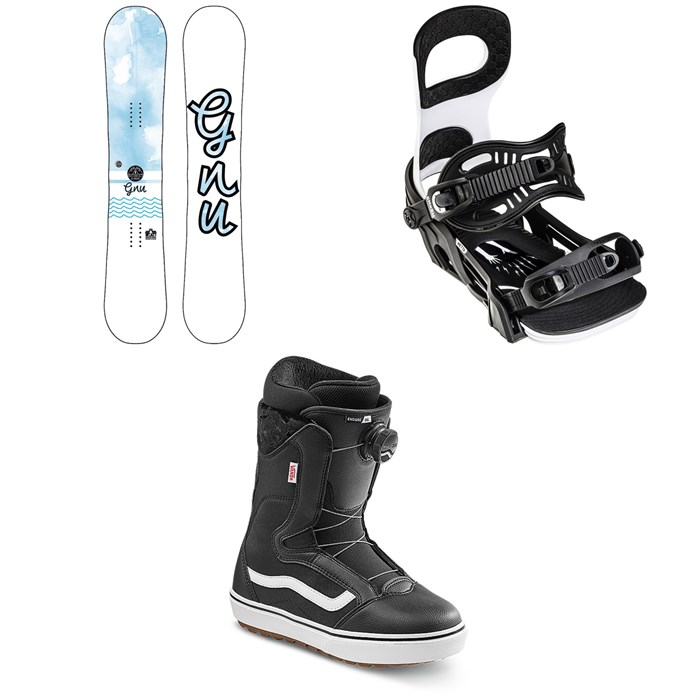 GNU - B-Nice BTX Snowboard + Bent Metal Metta Snowboard Bindings + Vans Encore OG Snowboard Boots - Women's 2022