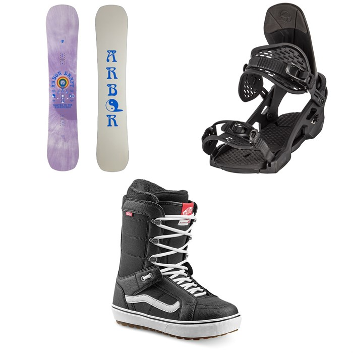 Arbor - Draft Rocker Snowboard + Spruce Snowboard Bindings + Vans Hi Standard OG Snowboard Boots 2022