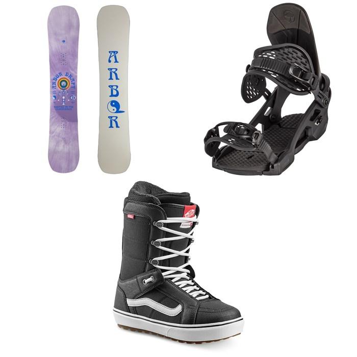 Arbor - Draft Camber Snowboard + Spruce Snowboard Bindings + Vans Hi Standard OG Snowboard Boots 2022
