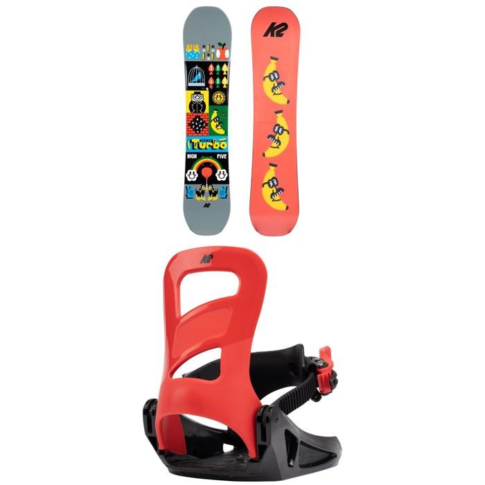K2 - Mini Turbo Snowboard + Mini Turbo Snowboard Bindings - Kids' 2022