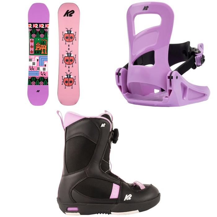 K2 - Lil Kat Snowboard + Lil Kat Snowboard Bindings + Lil Kat Snowboard Boots - Girls' 2022