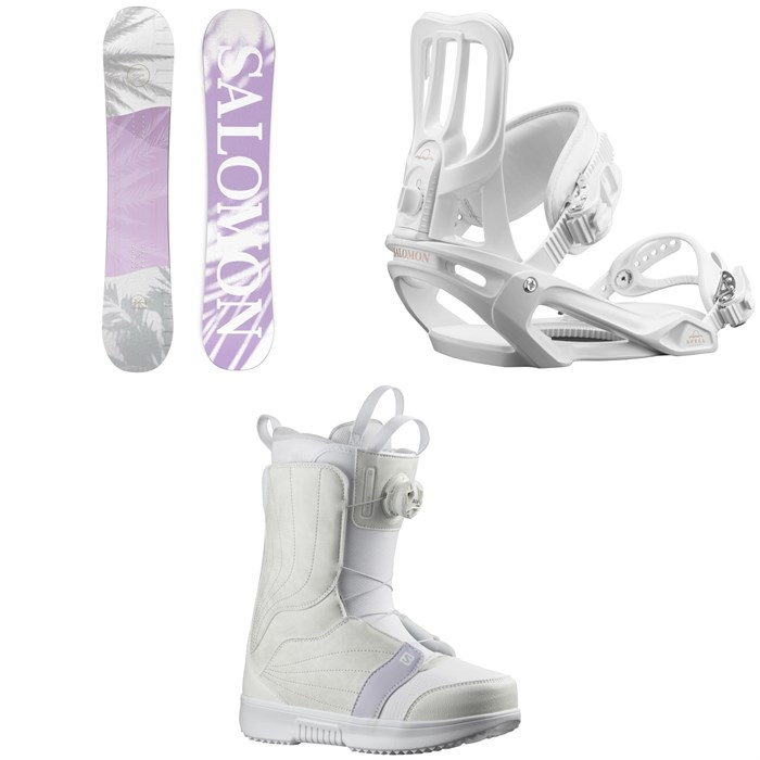 Salomon - Lotus X Snowboard + Spell Snowboard Bindings + Pearl Boa Snowboard Boots - Women's 2022