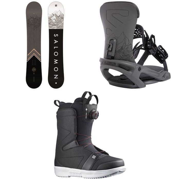 Salomon - Sight X Snowboard + Trigger X Snowboard Bindings + Faction Boa Snowboard Boots 2022