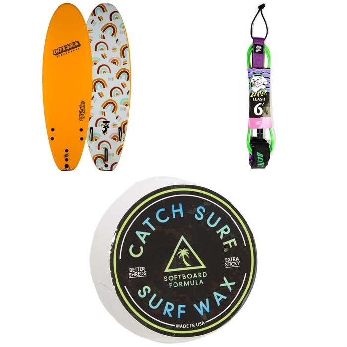 "Catch Surf - Odysea 6'0"" Log x Taj Burrow Surfboard + Beater 6' Leash + Catch Surf Surf Wax"