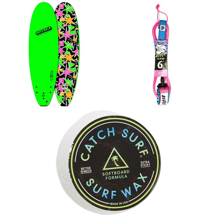 "Catch Surf - Odysea 6'0"" Log x Kalani Robb Surfboard + Beater 6' Leash + Catch Surf Surf Wax"