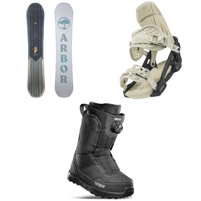 Arbor - Ethos Snowboard + Acacia Snowboard Bindings + thirtytwo Shifty Boa Snowboard Boots - Women's 2022