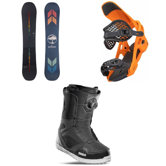 Arbor - Formula Rocker Snowboard + Spruce Snowboard Bindings + thirtytwo STW Boa Snowboard Boots 2022