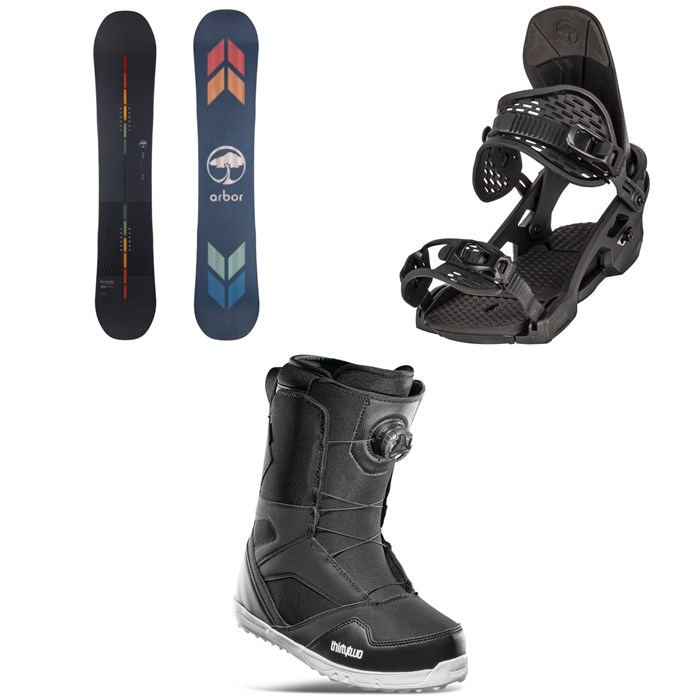 Arbor - Formula Camber Snowboard + Spruce Snowboard Bindings + thirtytwo STW Boa Snowboard Boots 2022