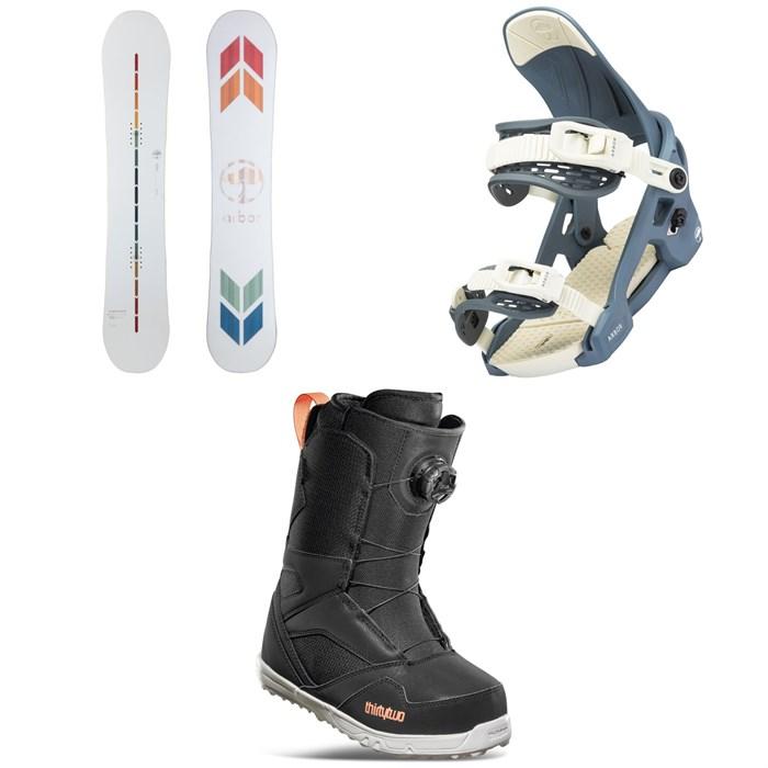 Arbor - Poparazzi Rocker Snowboard + Acacia Snowboard Bindings + thirtytwo STW Boa Snowboard Boots - Women's 2022