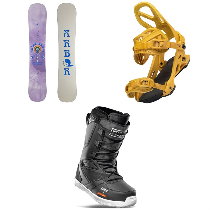 Arbor - Draft Camber Snowboard + Hemlock Snowboard Bindings + thirtytwo Light x Santa Cruz Snowboard Boots 2022