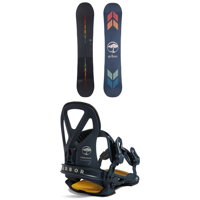 Arbor - Formula Rocker Snowboard + Hemlock LTD Snowboard Bindings 2022