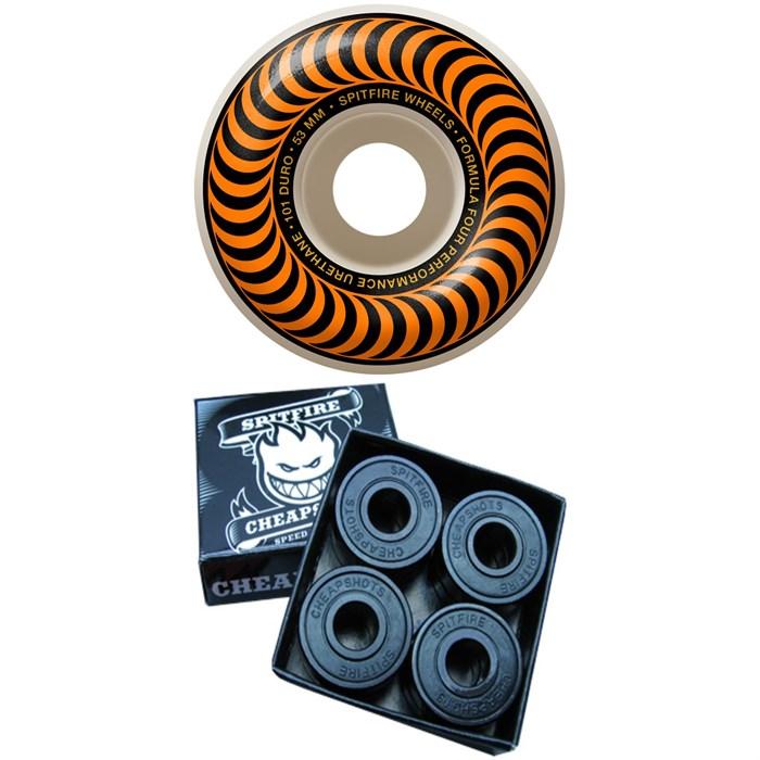 Spitfire - Formula Four 101d Classics Skateboard Wheels + Cheapshots Bearings
