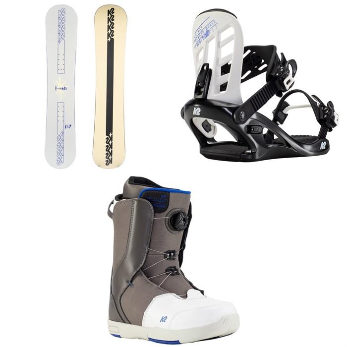 K2 - Kandi Snowboard + Kat Snowboard Bindings + Kat Snowboard Boots - Girls' 2022
