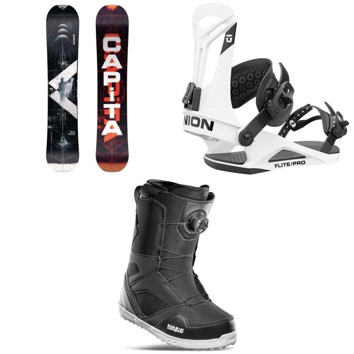 CAPiTA - Pathfinder Reverse Snowboard + Union Flite Pro Snowboard Bindings + thirtytwo STW Boa Snowboard Boots 2022