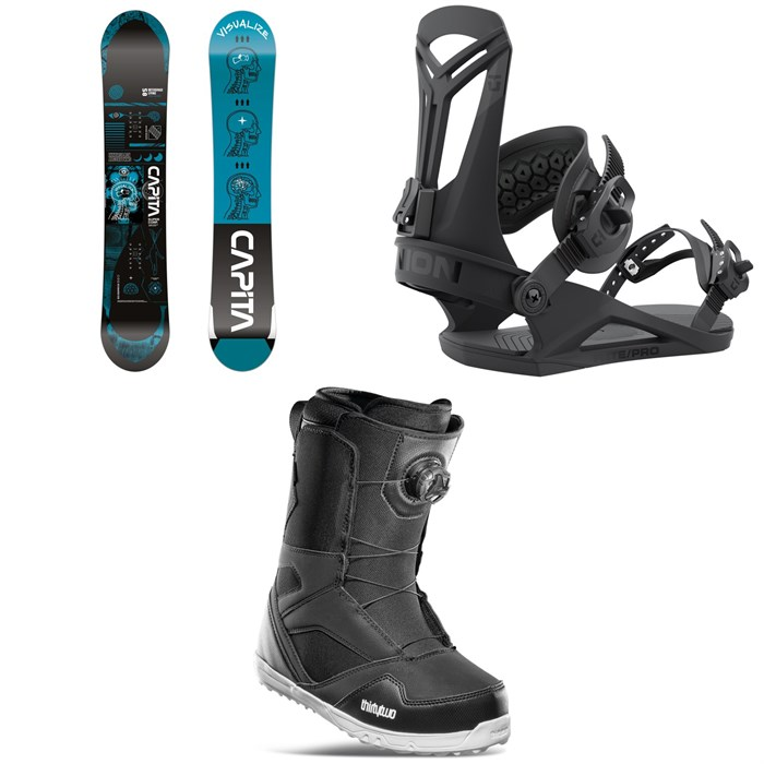 CAPiTA - Outerspace Living Snowboard + Union Flite Pro Snowboard Bindings + thirtytwo STW Boa Snowboard Boots 2022