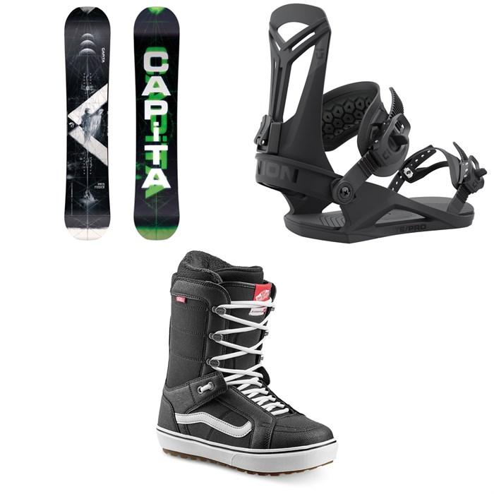 CAPiTA - Pathfinder Camber Snowboard + Union Flite Pro Snowboard Bindings + Vans Hi Standard OG Snowboard Boots 2022