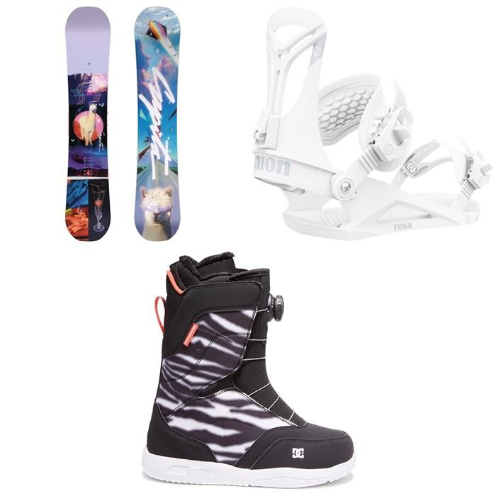CAPiTA - Space Metal Fantasy Snowboard + Union Rosa Snowboard Bindings + DC Search Boa Snowboard Boots - Women's 2022