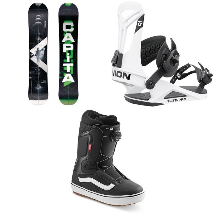 CAPiTA - Pathfinder Camber Snowboard + Union Flite Pro Snowboard Bindings + Vans Aura OG Snowboard Boots 2022