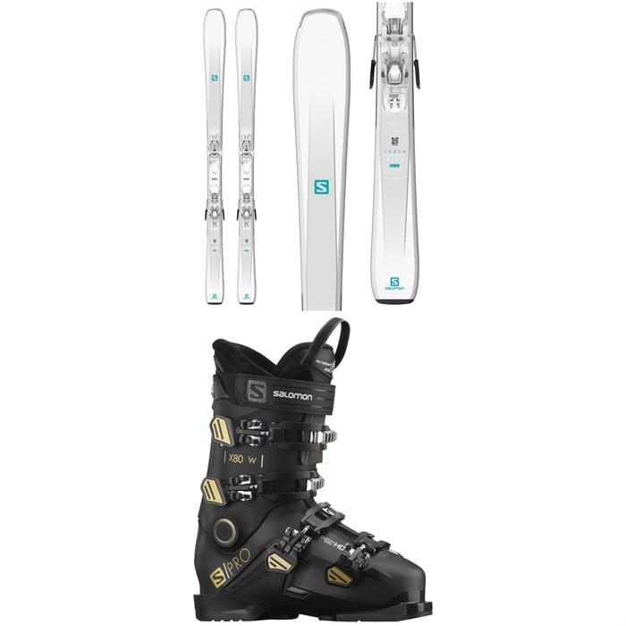 Salomon - Aira 76 ST C Skis + L10 GW Bindings 2020 + Salomon S/Pro X80 W Ski Boots - Women's 2021