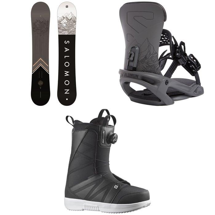 Salomon - Sight X Snowboard + Trigger X Snowboard Bindings + Titan Boa X Snowboard Boots 2022