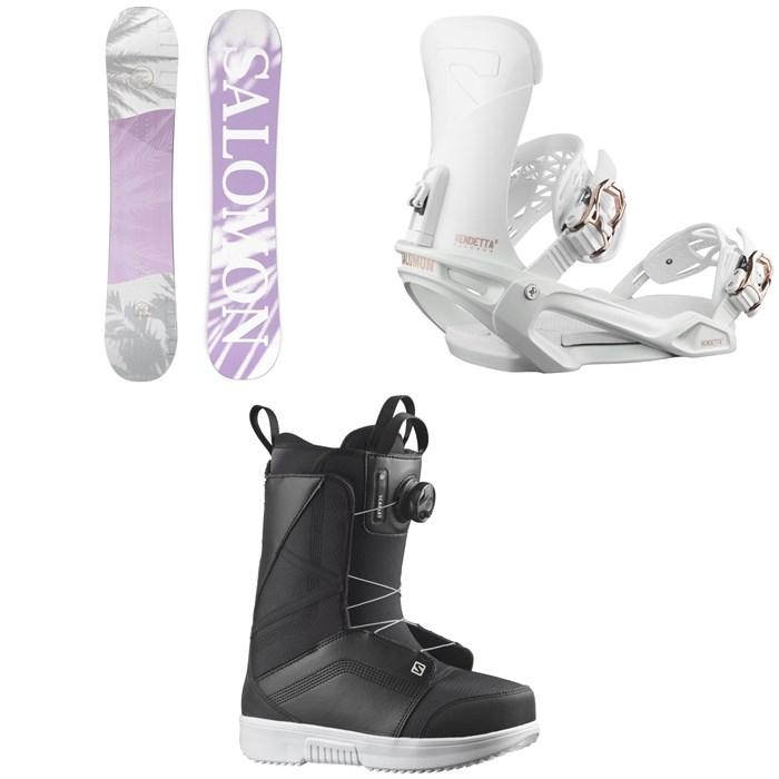 Salomon - Lotus X Snowboard + Vendetta X Snowboard Bindings + Scarlet Boa X Snowboard Boots - Women's 2022