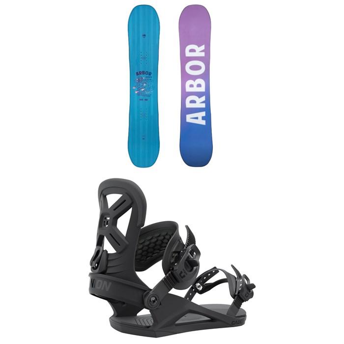 Arbor - Cheater Snowboard + Union Cadet Snowboard Bindings - Kids' 2022