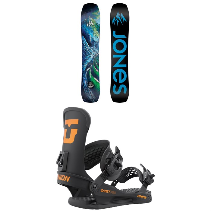 Jones - Flagship Snowboard + Union Cadet Pro Snowboard Bindings - Kids' 2022