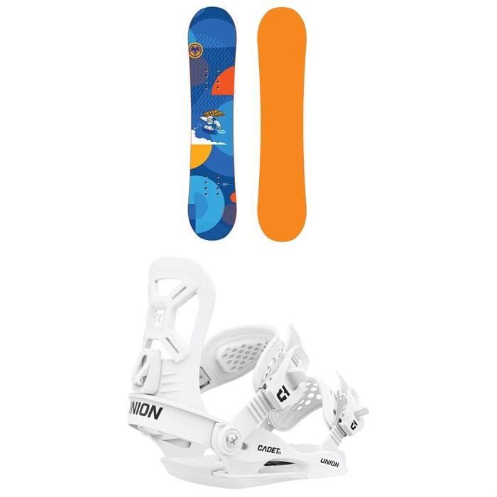 Never Summer - Shredder Snowboard + Union Cadet XS Snowboard Bindings - Little Kids' 2022