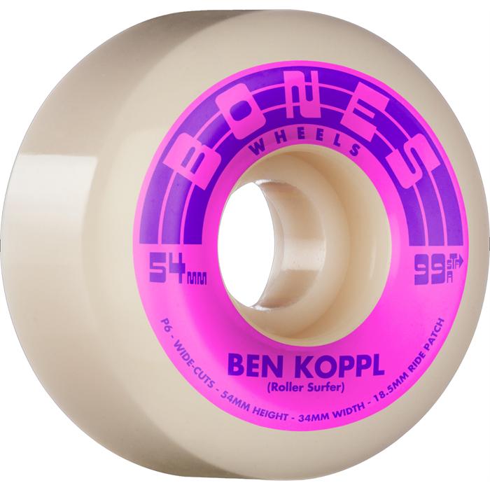 Bones - Koppl Rollersurfer STF Wide-Cut 99a V6 Skateboard Wheels