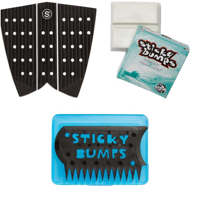 Sympl Supply Co - Nº6 Fish Traction Pad + Sticky Bumps Basecoat Wax + Wax Comb & Box