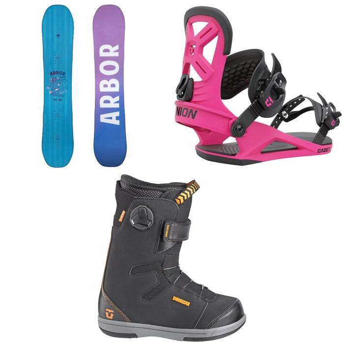 Arbor - Cheater Snowboard + Union Cadet Snowboard Bindings + Union Cadet Snowboard Boots - Kids' 2022
