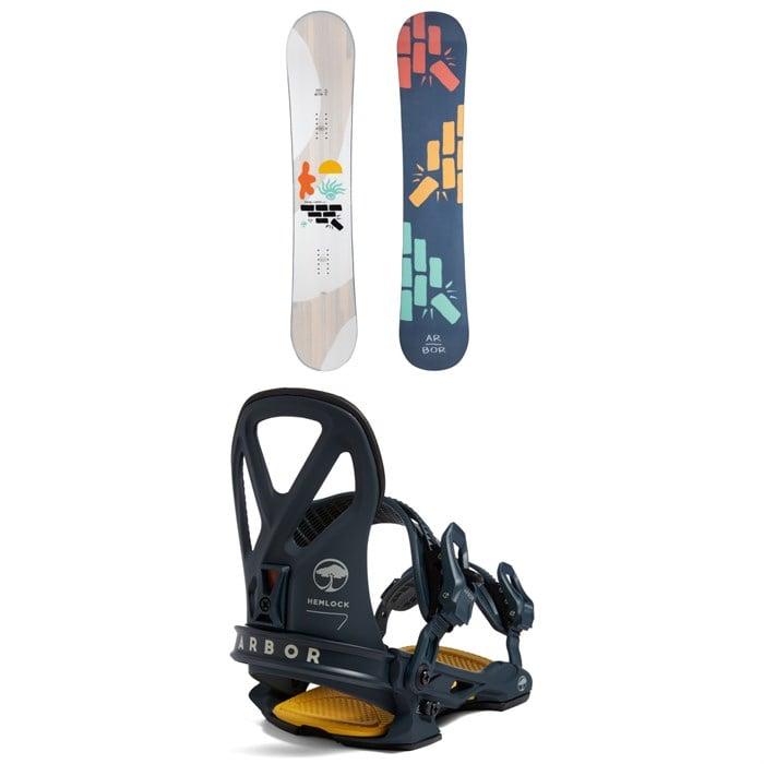 Arbor - Relapse Snowboard + Hemlock LTD Snowboard Bindings 2022