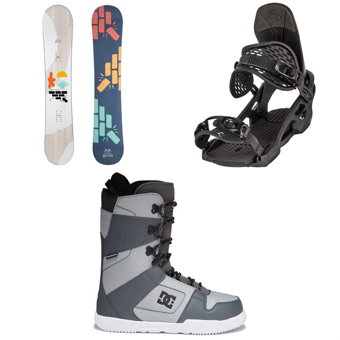 Arbor - Relapse Snowboard + Spruce Snowboard Bindings + DC Phase Snowboard Boots 2022