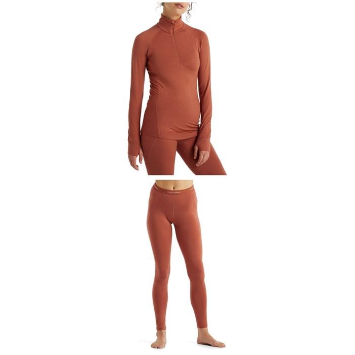 Icebreaker - 260 Zone Long Sleeve Half Zip Top + Leggings - Women's 2022