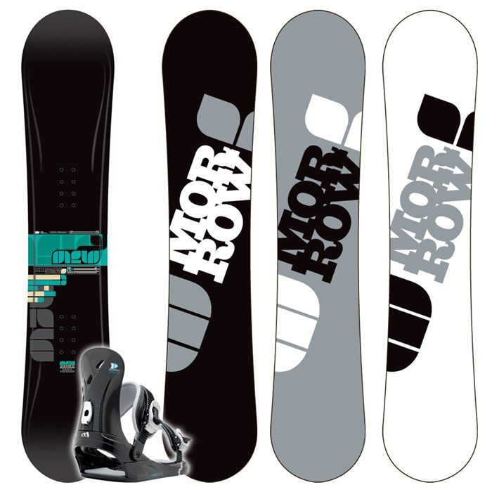 Morrow Source Wide Snowboard + Dimension Bindings 2009
