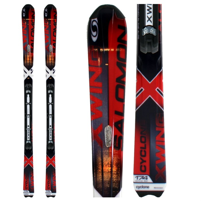 Salomon - X-Wing Cyclone Skis + Z10 Bindings 2009