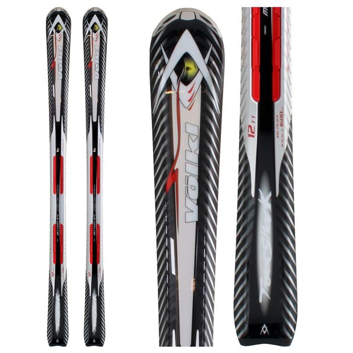 Volkl Tigershark 12 Foot Skis + IPT 11.0 TC Bindings 2009